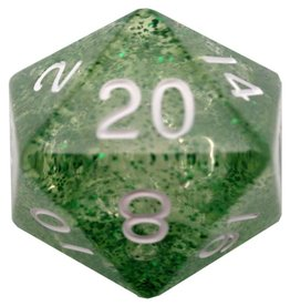 Metallic Dice Games d20 35mm Ethereal Green w/White