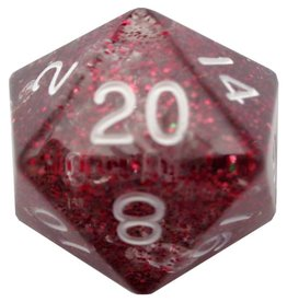 Metallic Dice Games d20 35mm Ethereal Purple w/White