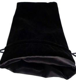 Metallic Dice Games Large Velvet/Satin Dice Bag: Black/Black 6x8