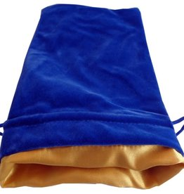 Metallic Dice Games Large Velvet/Satin Dice Bag: Blue/Gold 6x8