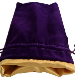 Metallic Dice Games Large Velvet/Satin Dice Bag: Purple/Gold 6x8