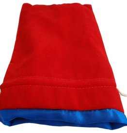 Metallic Dice Games Large Velvet/Satin Dice Bag: Red/Blue 6x8