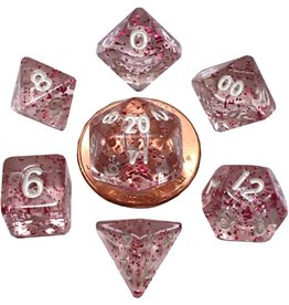 Metallic Dice Games Mini Poly 7 dice set: Ethereal Light Purple 10mm