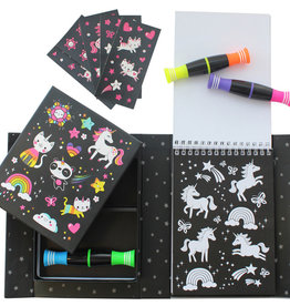 Tiger Tribe Unicorns & Friends Neon Colouring Set