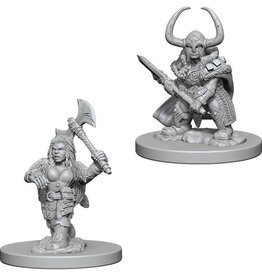 Wiz-Kids D&D Minis: Dwarf Female Barbarian