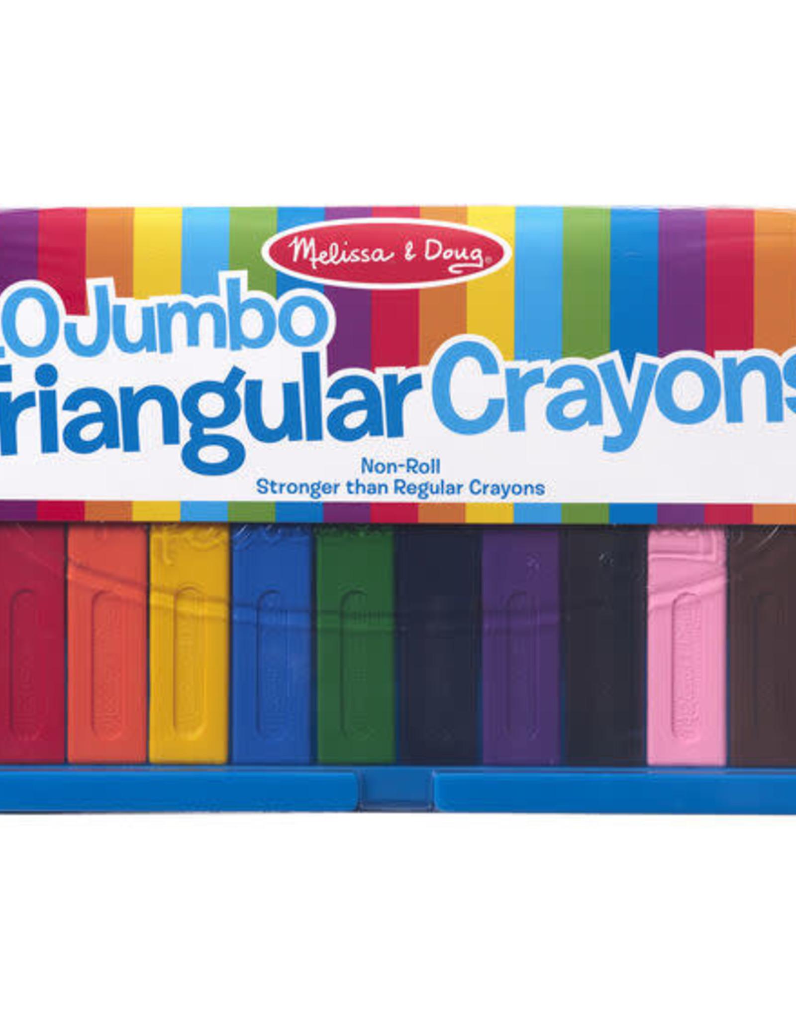 Melissa & Doug 10 Jumbo Triangular Crayons