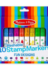 Melissa & Doug 10 Washable Stamp Markers - Fun Designs