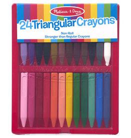 Melissa & Doug 24 Triangular Crayons