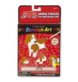 Melissa & Doug On the Go Scratch Art: Animal Families Hidden-Picture Pad