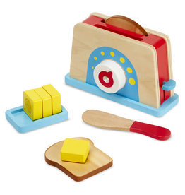 Melissa & Doug Wooden Bread & Butter Toaster Set