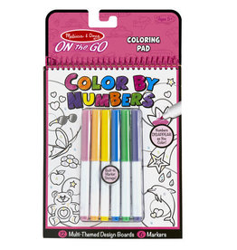 Melissa & Doug On the Go Color by Numbers Kids' Design Boards With 6 Markers - Unicorns, Ballet, Kittens, and More