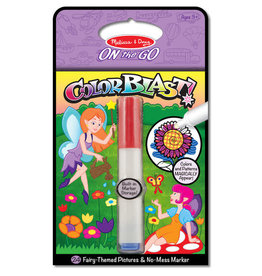 Melissa & Doug On the Go Color Blast No-Mess Coloring Pad - Fairies