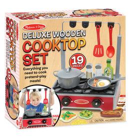 Melissa & Doug Deluxe Wooden Cooktop Set