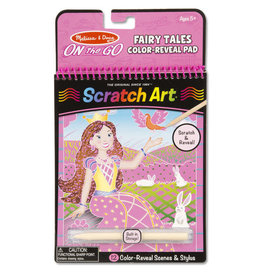 Melissa & Doug On the Go Scratch Art Color Reveal Pad - Fairy Tales