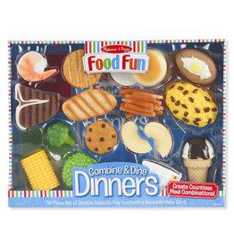 Melissa & Doug Food Fun - Combine & Dine Dinners (Blue)