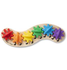 Melissa & Doug Rainbow Caterpillar Gear Toy