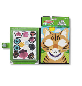 Melissa & Doug Make-a-Face - Pets Reusable Sticker Pad - On the Go Travel Activity