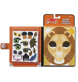 Melissa & Doug Make-a-Face - Safari Reusable Sticker Pad - On the Go Travel
