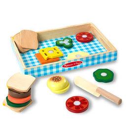 Melissa & Doug Sandwich Making Set - Wooden Play Food