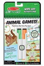 Melissa & Doug Animal Games Wipe-Off Activity Pad - On the Go Travel Activity