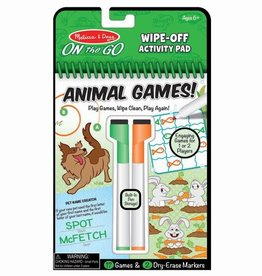 Melissa & Doug Animal Games Wipe-Off Activity Pad - On the Go Travel Activity
