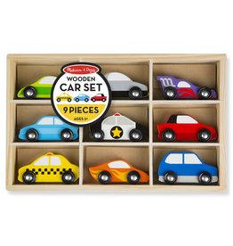 Melissa & Doug Wooden Cars Set - 9 Pieces
