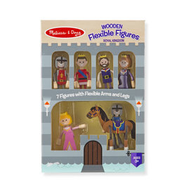 Melissa & Doug Wooden Flexible Figures - Royal Kingdom