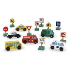 Melissa & Doug Wooden Vehicles & Traffic Signs