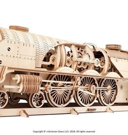 Ugears UGEARS V-Express Steam Train with Tender