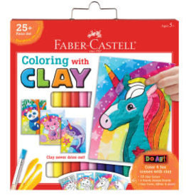 Faber-Castell Do Art: Coloring with Clay Unicorn & Friends