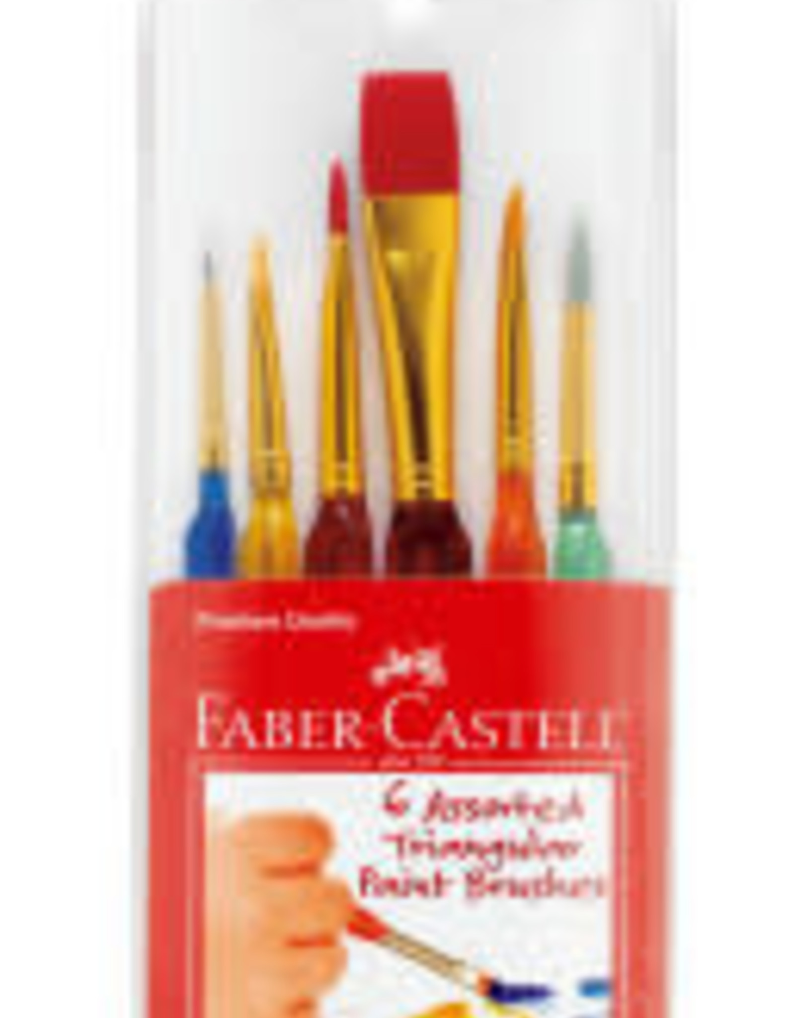 Faber-Castell 6 Assorted Triangular Paint Brushes