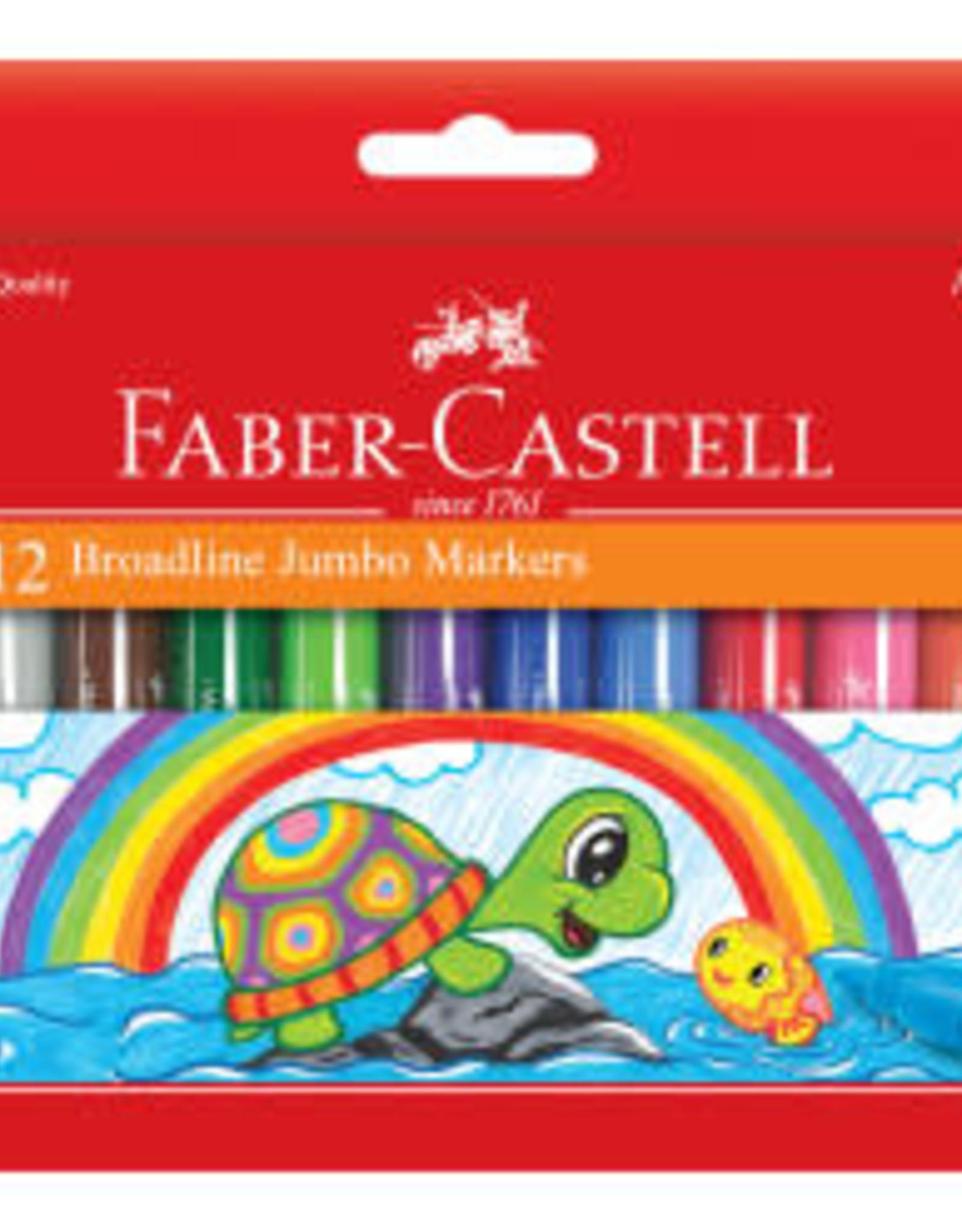 Faber-Castell 12ct Washable Broadline Jumbo Markers
