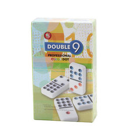 CHH Games Double 9 color dot domino