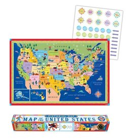 Eeboo This Land Is Your Land Map USA Poster