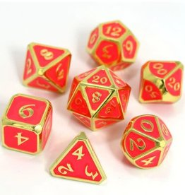 Die Hard AfterDark Neon Bloom Poly 7 Metal Dice Set