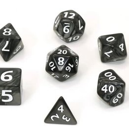 Die Hard Black Swirl Mega Dice Poly7