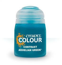 Games Workshop Contrast Paint: Akhelian Green