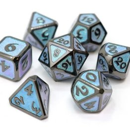 Die Hard Dreamscape Winter's Embrace Poly 7 Metal Dice Set