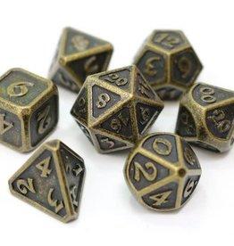 Die Hard Mythica Dark Gold Poly7 Metal Dice Set
