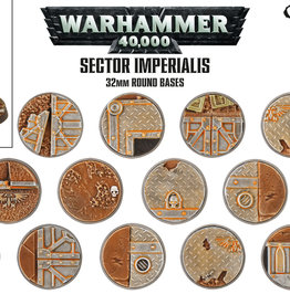 Games Workshop Sector Imperialis 32mm Round Bases