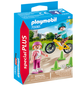 Playmobil Playmobil Children with skates and bike