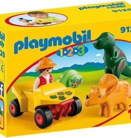 Playmobil Playmobil 1.2.3 Explorer with Dinos