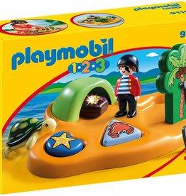 Playmobil Playmobil 1.2.3 Pirate Island