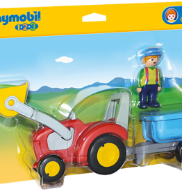 Playmobil Playmobil 1.2.3 Tractor with Trailer