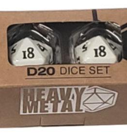 Ultra PRO D20 Heavy Metal White