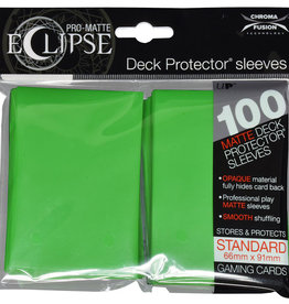 Ultra PRO Pro-Matte Eclipse 100ct Sleeve Lime Green