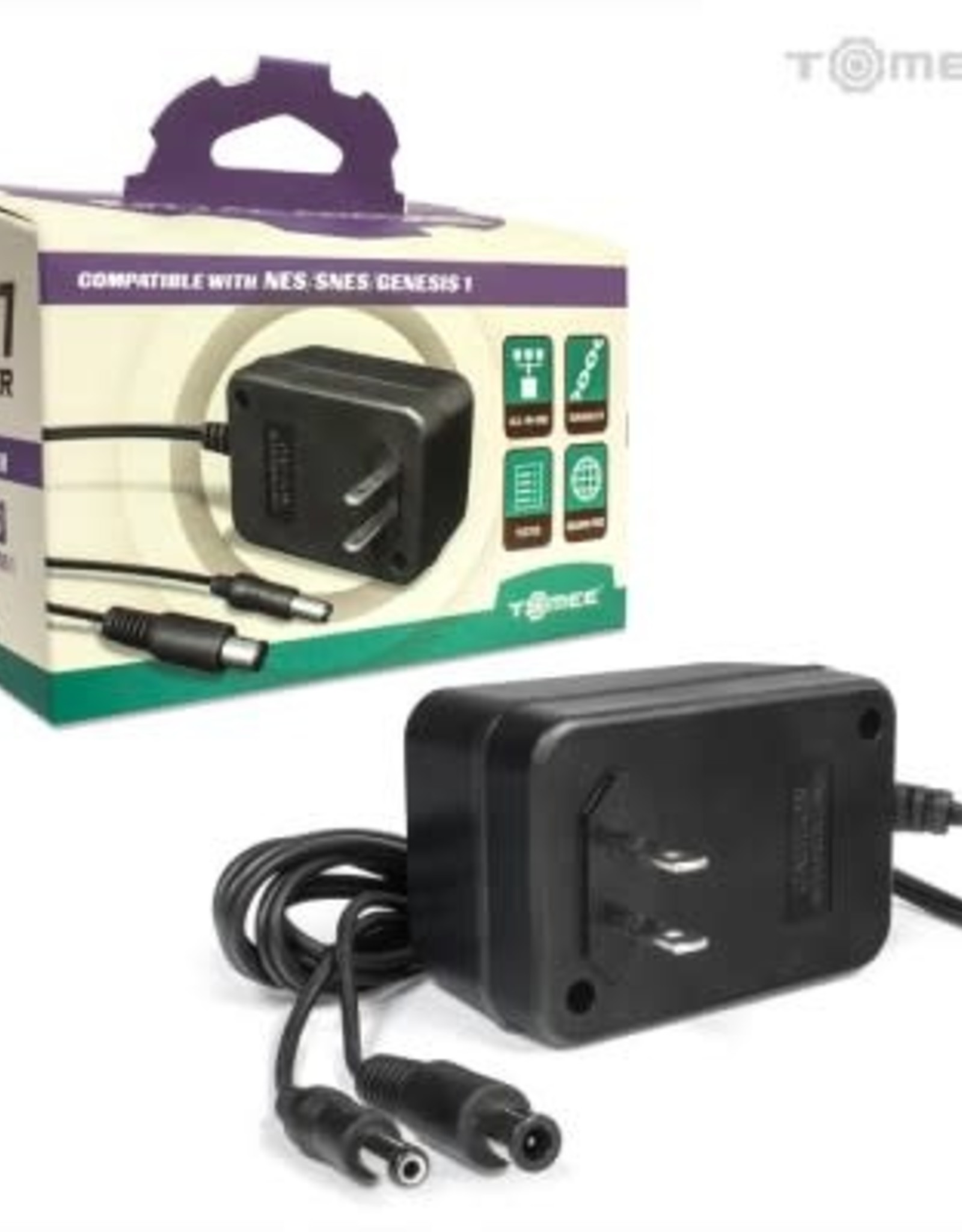 Tomee 3 in 1 AC Adapter for Genesis/SNES/NES