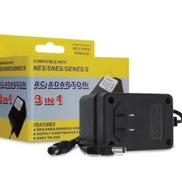 Hyperkin 3 in 1 AC Adaptor for NES/SNES/Genesis
