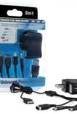 Hyperkin 5 -N -1 Universal Power Adapter For Nintendo DS® /Nintendo DS® Lite /Nintendo DSi® / PSP® And USB
