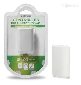 Tomee Rechargeable Controller Battery Pack Xbox 360 White